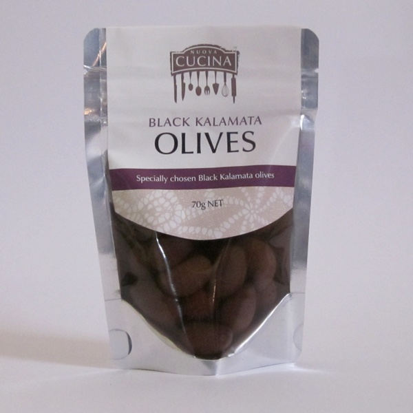 Kalamata Olives in stand-up pouches